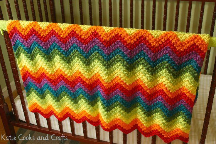 Katie Cooks And Crafts Rumpled Ripple Rainbow Crochet
