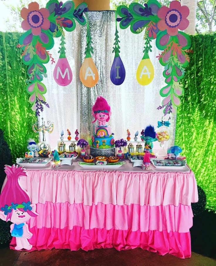 Trolls party decor
