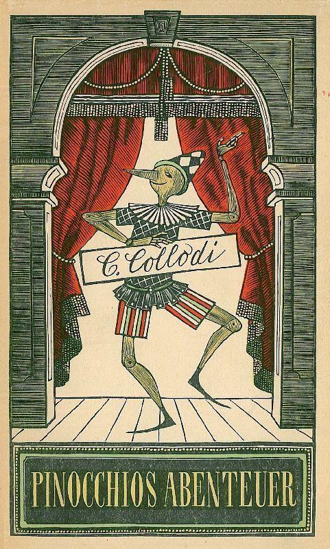 'Pinocchios Abenteuer' Carlo Collodi / Werner Klemke ::  Berlin, Aufbau-Verlag, 1954