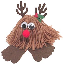Reindeer Yarn Bug.. Super easy and fun for kids!