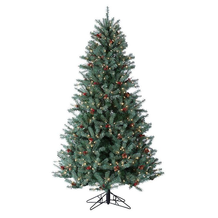 pre lit led color changing artificial christmas tree multicolor - Artificial Christmas Trees Sale