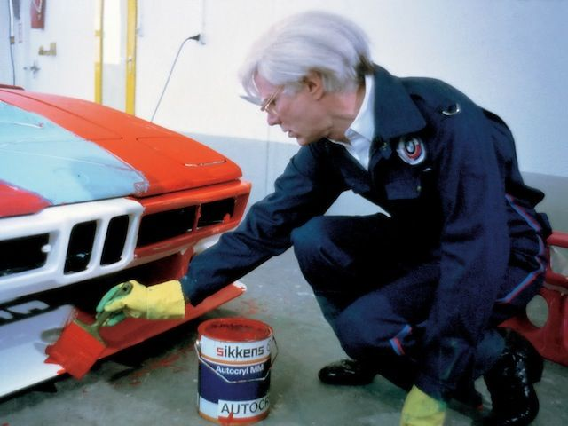 Andy Warhol paints the M1 art car in 23 minutes