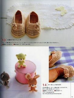 Crochet y Bebê: Sapatinho em crochet para bebê! Crocheted baby shoes!
