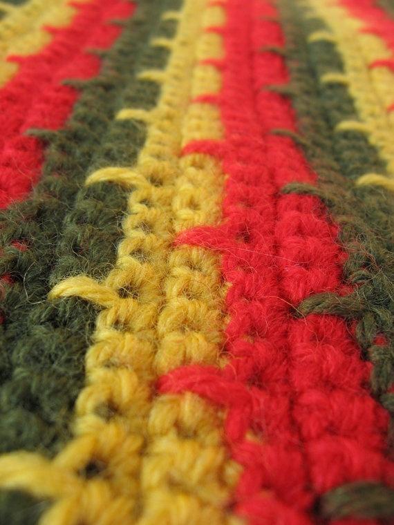 Crochet wool rasta scarf for men and women. $44.50, via Etsy.