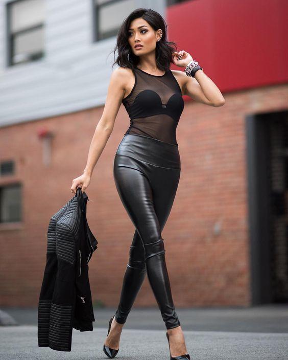 Womens black sexy lingerie big hole teddies nightwear fishnet leotard bodysuit