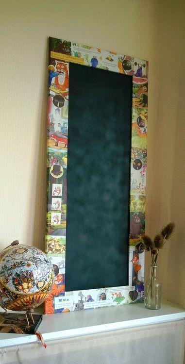 Woollysaurus // Decoupaged children's blackboard (Gruffalo, The Tiger Who Came to Tea....)