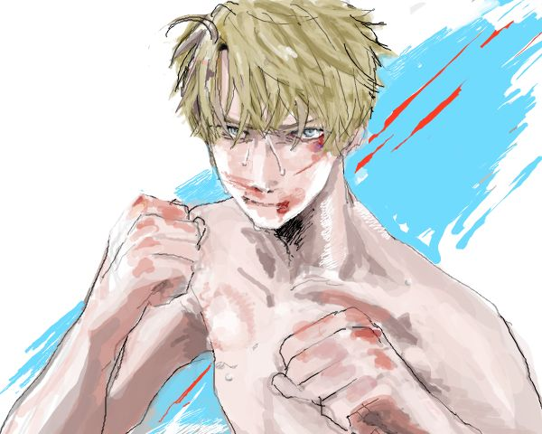 America... *Sudden nose bleed* <<< His nose is kinda bleeding too. Not in the way we're used too tho.