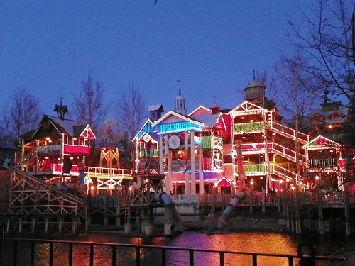 Silver Dollar City during Christmas