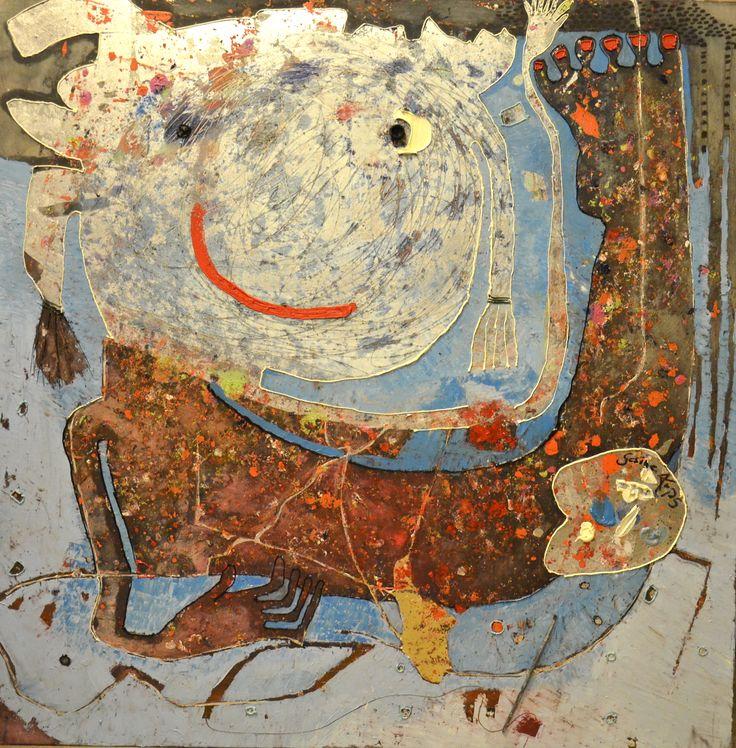 Gesine Arps - La pittrice - 100x100