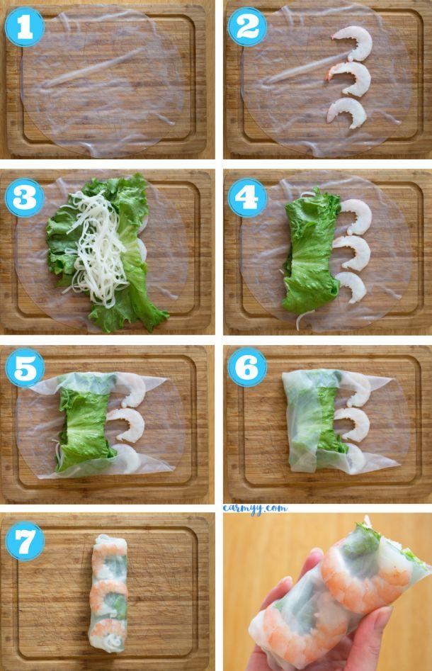 Vietnamese Rice Paper Shrimp Rolls