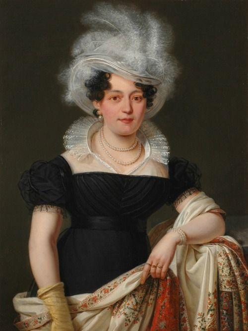 Portrait of Lady (c. 1820) by Ignace Brice (1795-1866).