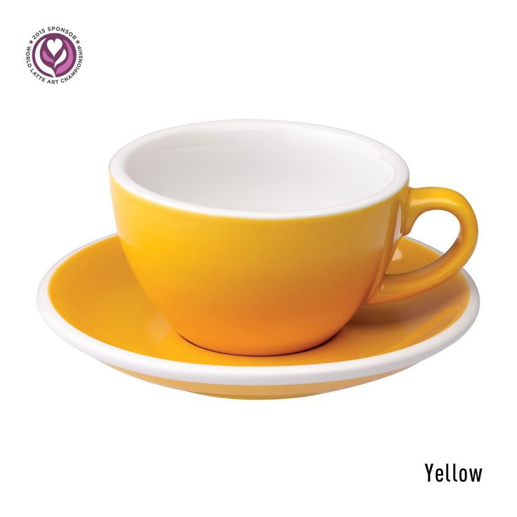 Egg 200ml Cappuccino Cup & Saucer | Loveramics