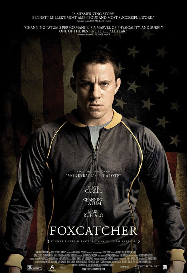 """Channing Tatum é destaque no cartaz do filme """"Foxcatcher"""" http://cinemabh.com/imagens/channing-tatum-e-destaque-no-cartaz-do-filme-foxcatcher"""