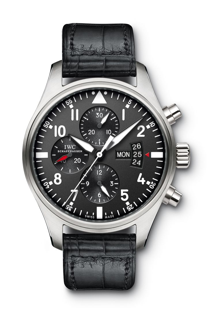 Iwc pilot s chronograph black stainless steel men s watch iwc has principles of dedication to make watches in small numbers but of the highest quality