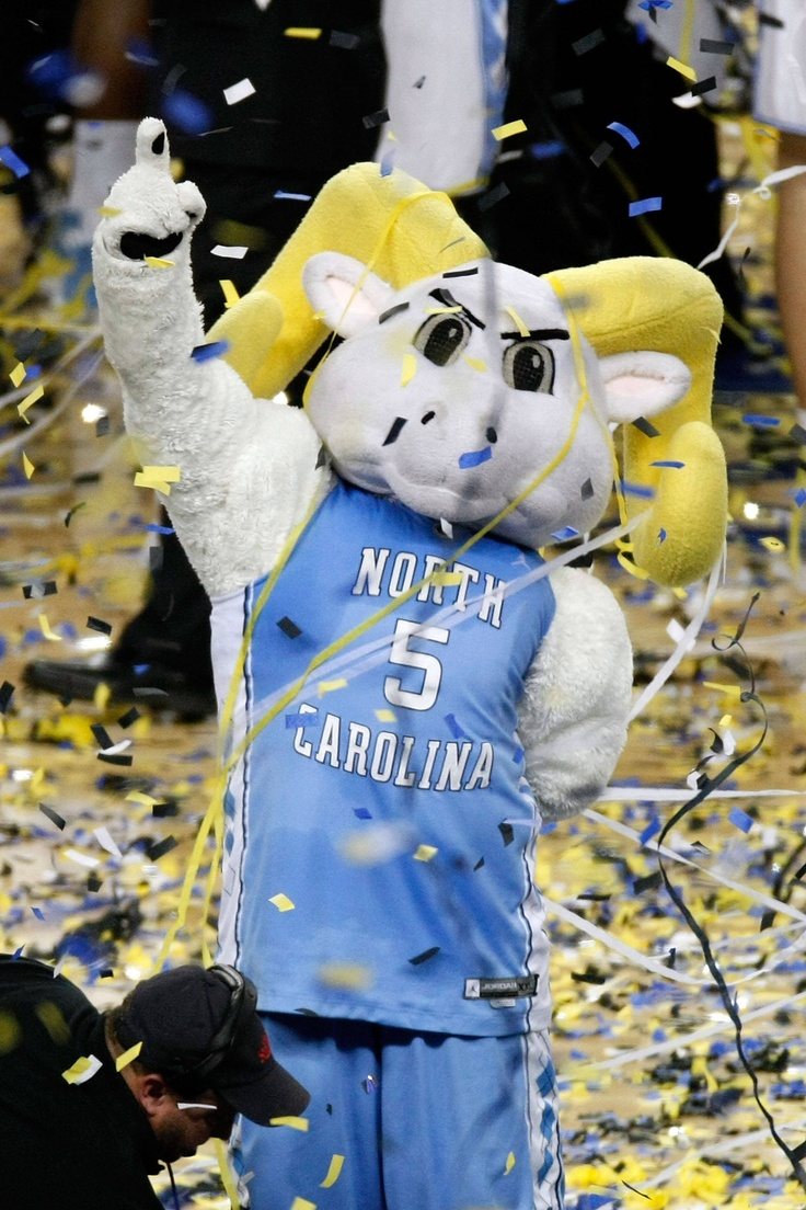 The North Carolina Tar Heels mascot