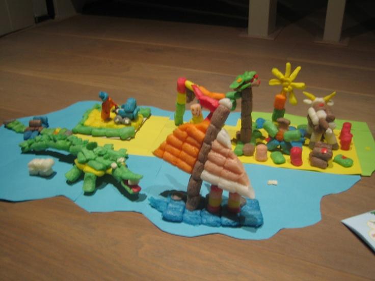 eiland knutselen met playmais