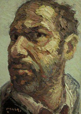 "Saatchi Online Artist Masri Hayssam; Painting, ""Self portrait- p82"" #art"