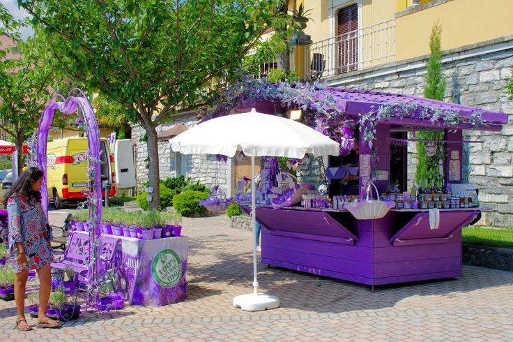 Lavender stall at Varenna, Lake Como