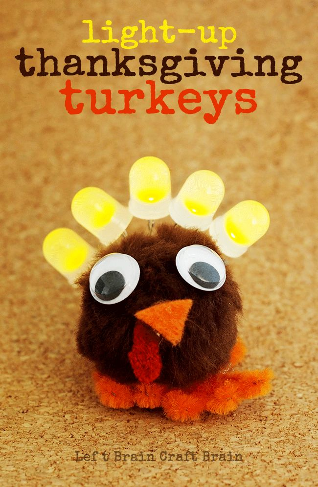 Light Up Thanksgiving Turkey Circuit Craft for