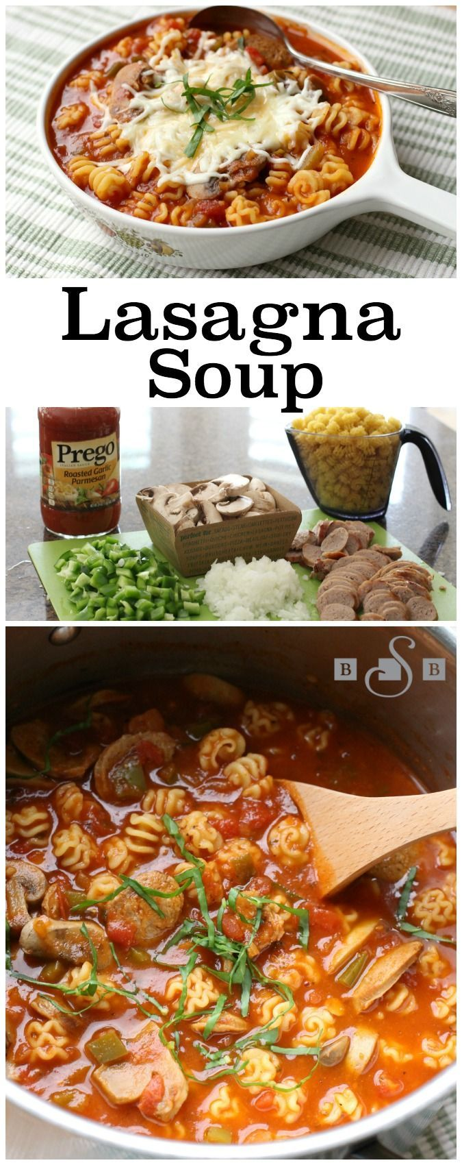 Lasagna Soup - Butter With A Side of Bread #ad