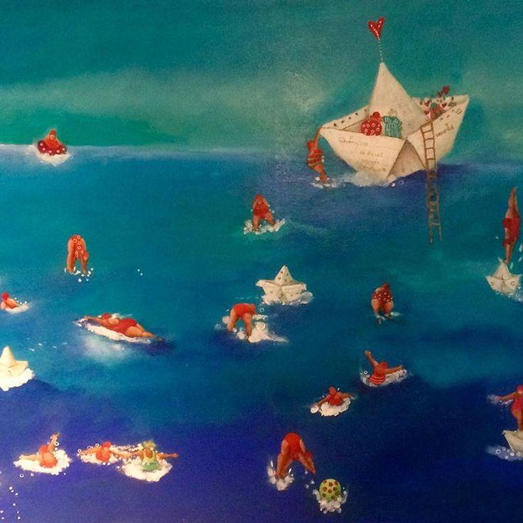 #cristinatrovato #cafemartinez #cristinatrovatoarte #oleo##playa #painting #gallery - cristinatrovato_arte