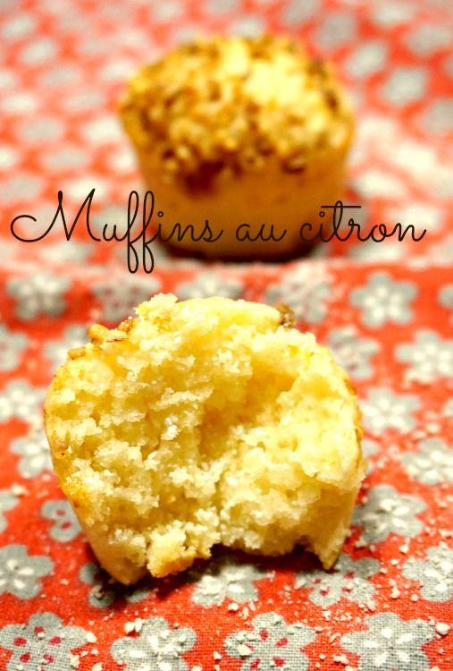 Recette de Muffins citron . facile rapide et moelleux !