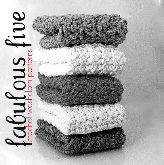 Fabulous Five Washcloth Wash Cloth by RepeatAfterMePattern on Etsy