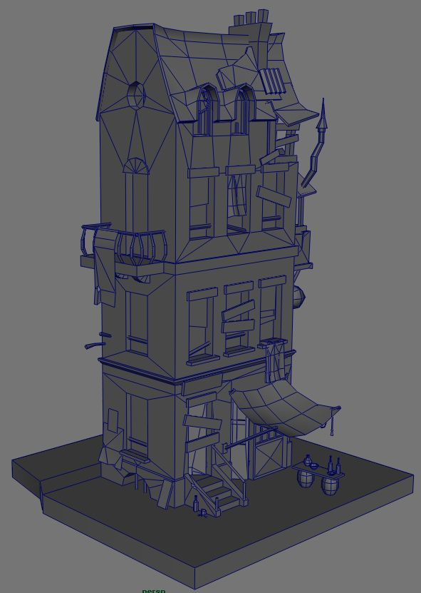 WIP Low Poly Building - Polycount Forum