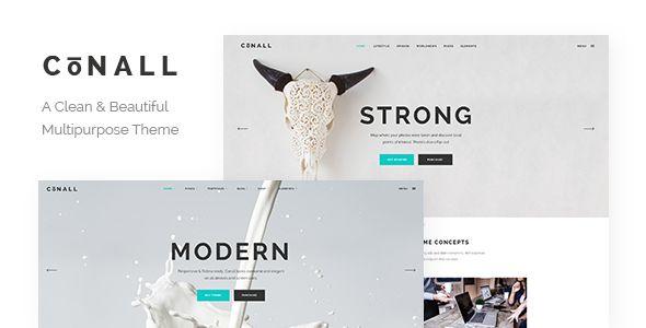 Conall - A Clean & Beautiful Multipurpose Theme (Creative) - http://creativewordpresstheme.com/conall-a-clean-beautiful-multipurpose-theme-creative/