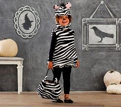 Kid Halloween Costumes & Halloween Kid Costumes | Pottery Barn Kids  -  Zebra Costume