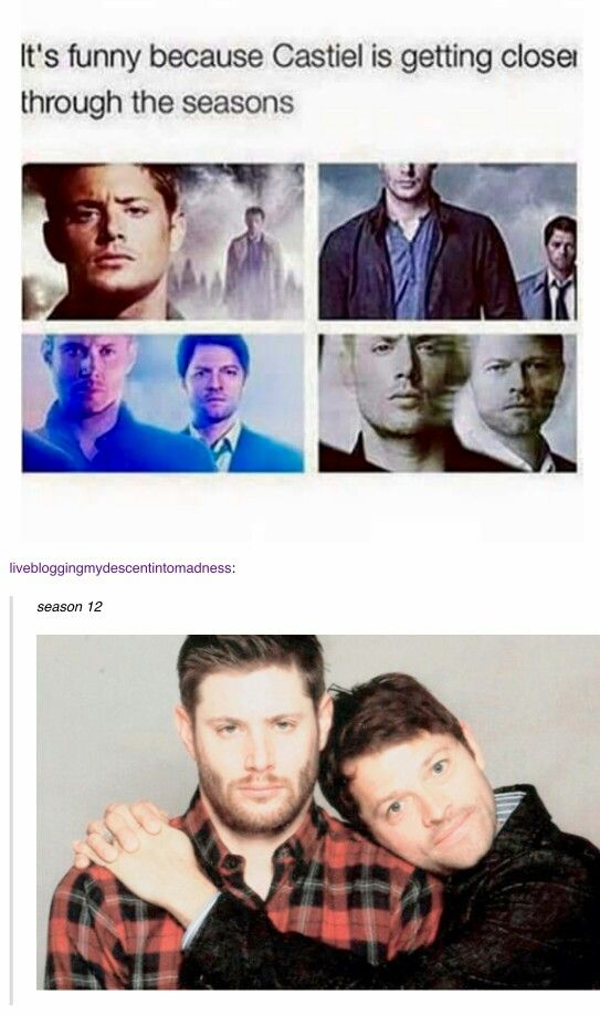 Castiel getting closer to Dean xD (Destiel)