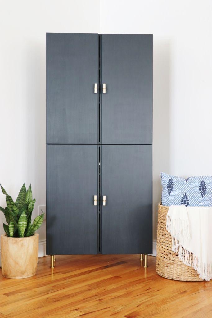 Ivar IKEA Hack-Library Cabinet – #cabinet #HackLib…