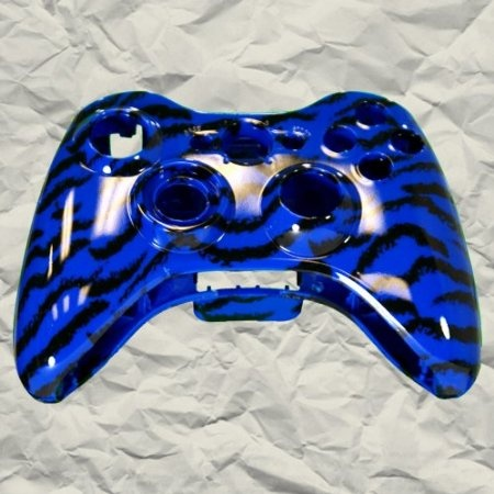 19 best xbox 360 images on pinterest xbox 360 controller consoles blue tiger stripe xbox 360 controller shell controller mod 1799 amazing discounts your 1 solutioingenieria Image collections