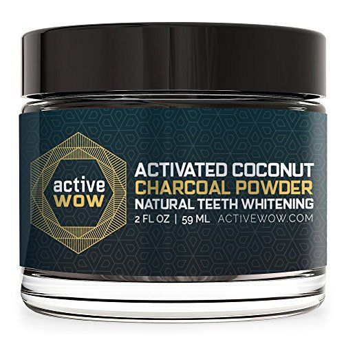 Active Wow Teeth Whitening Charcoal Powder Natural Active...