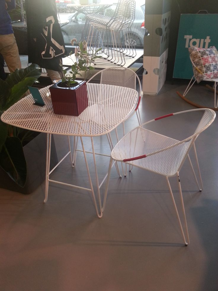 Quality outdoor, metal/powder coated Volley chair from Tait, designed and made in Australia with a cool retro vibe.  http://www.madebytait.com.au/products/volley-chair/ Pinned by Secret Design Studio, Melbourne.  www.secretdesignstudio.com