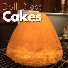 Doll Dress Cake made with 1 box of cake mix!