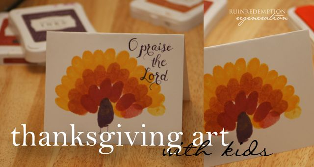 The three 'R's: Thanksgiving Art with Kids- Gratitude to God