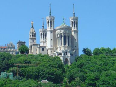 Basilique Notre-Dame de Fourvière, Lyon France.
