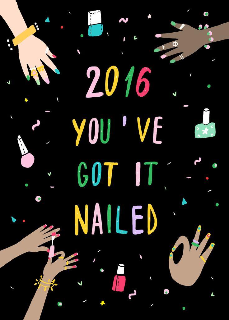 2016. You've got it nailed. (Illustration by @andsmilestudio for the Pinterest x @BirchboxUK box.)