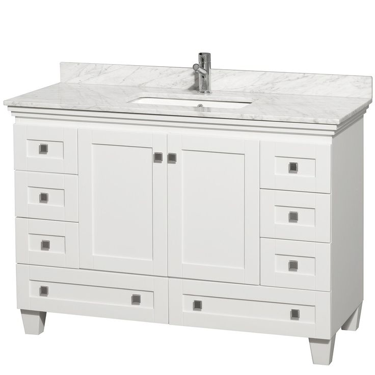 Adelina 48 Inch Antique White Bathroom Vanity White Marble Top Regarding  Size 1500 X 1312 48