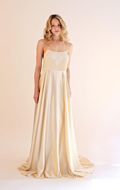 The wythe slipdress is a silk charmeuse slip dress with a for Silk charmeuse wedding dress