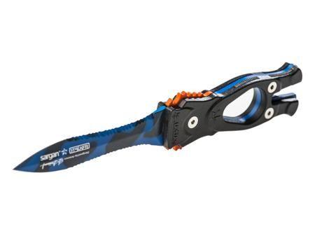 SARGAN Нож sargan сталкер-стропорез z1 - покрытие синий камуфляж