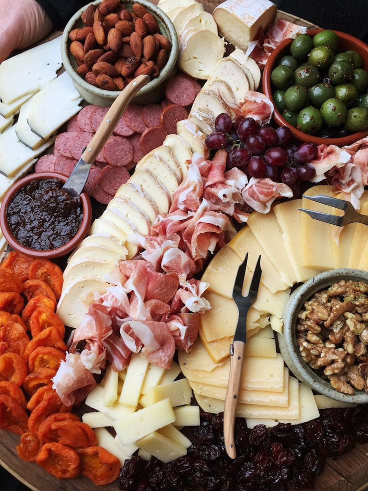 It's all about the aesthetics with meat + cheese platter