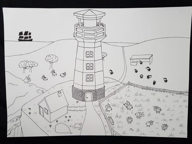 ausmalbild leuchtturm in 2020  ausmalen ausmalbild