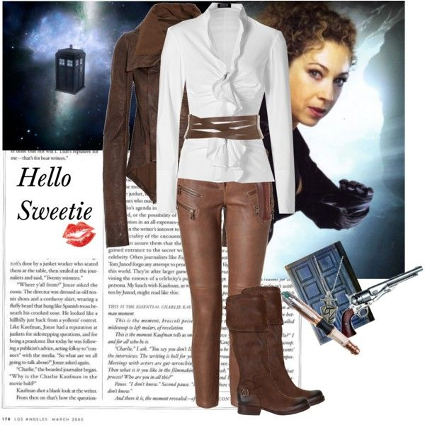 "I'm not a skinny jeans fan, but I would totally wear them for this outfit.  ""River Song"" by tasteofglitter on Polyvore"
