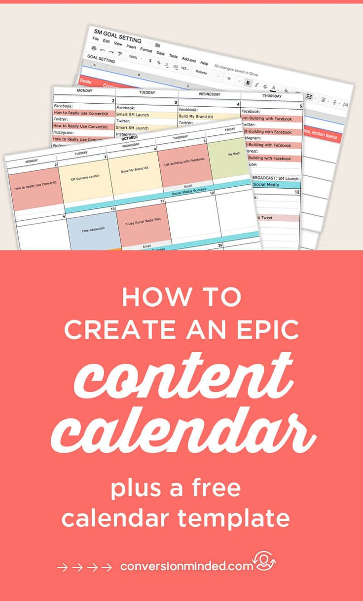How to Create an Epic Content Calendar for 2018 (With Template)