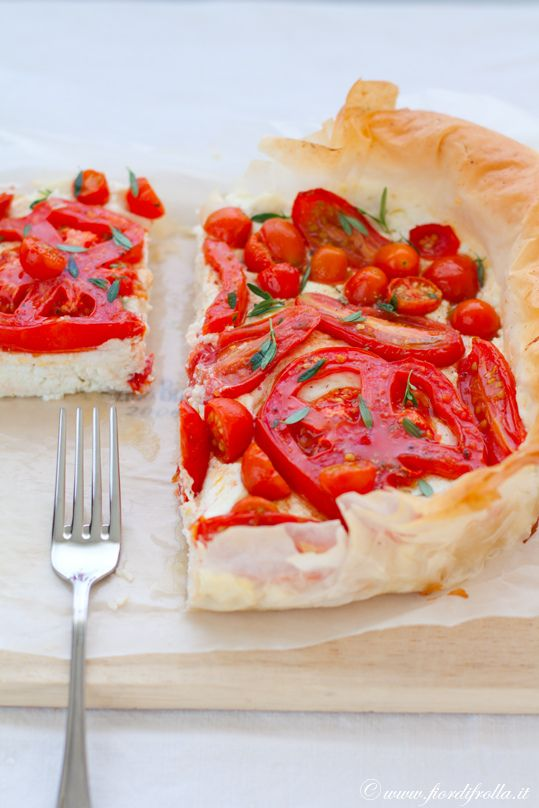 puff pastry, tomatoes & ricotta