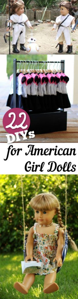 Cute! 22 DIYs for American Girl Dolls - these looks like fun DIY projects and crafts. Maybe some for spring break fun this year.