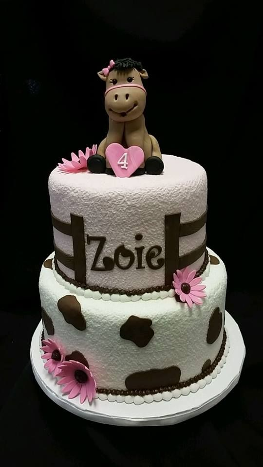 Birthday cake perfect for the horse-loving little girl!