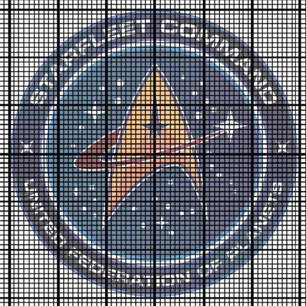 Starfleet Command badge (Star Trek) cross stitch